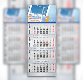 Kalendarz czterodzielny DN1 LUX